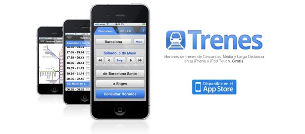 App Trenes de Cercanias Barcelona Madrid