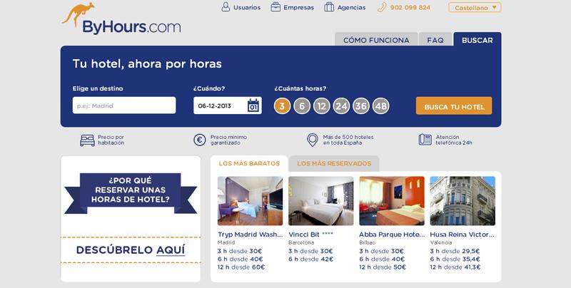 Alojamiento en hoteles por horas