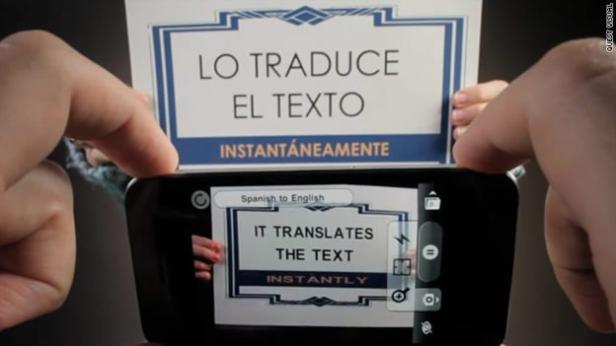 wordlens traductor carteles con tu camara de fotos