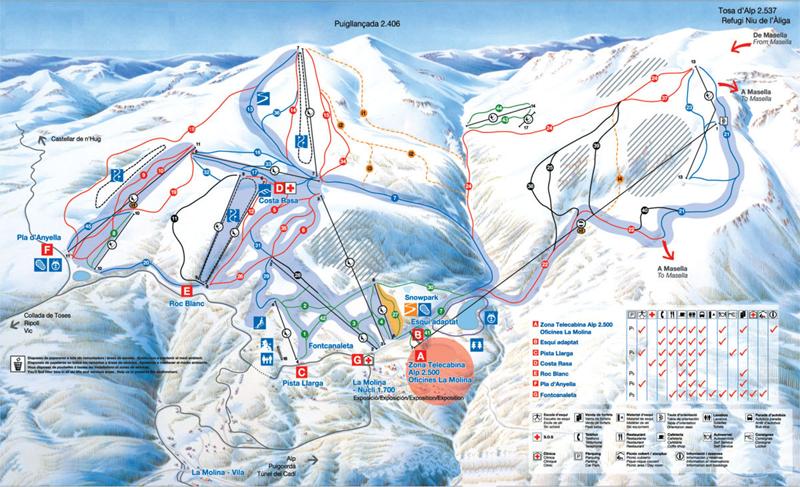 Tren esquiar en la Molina