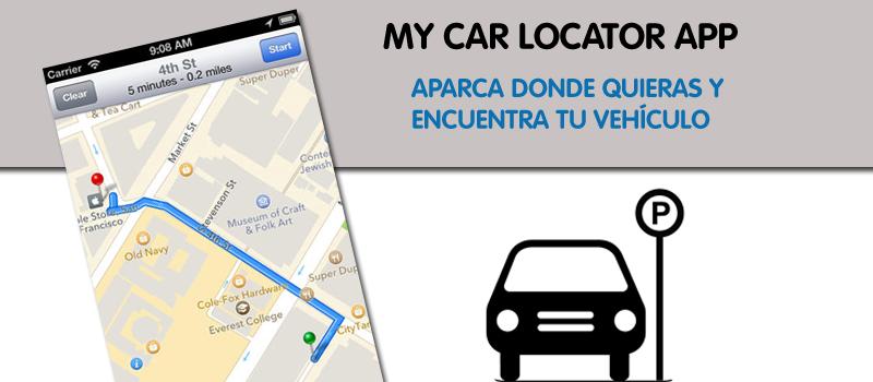 Aparca tu coche donde quieras y encuentralo con My Car Locator App
