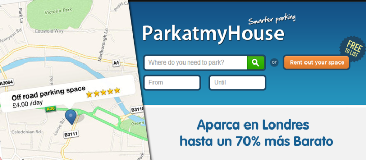 App Aparcar Barato en Londres Parkatmyhouse