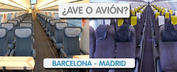 AVE o Avion Barcelona Madrid
