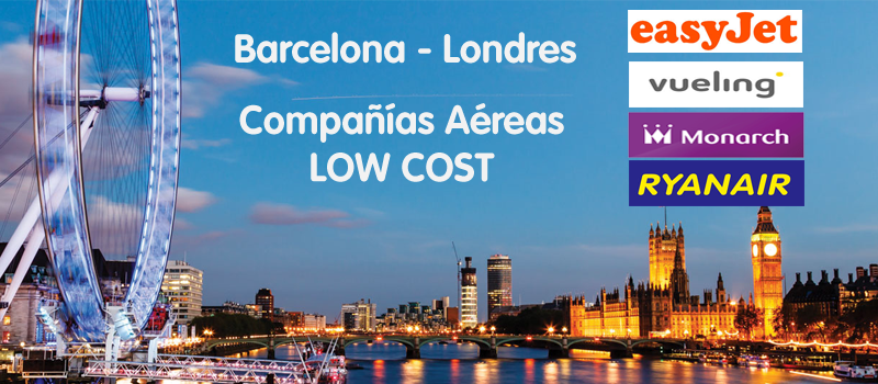Companias aereas low cost barcelona londres