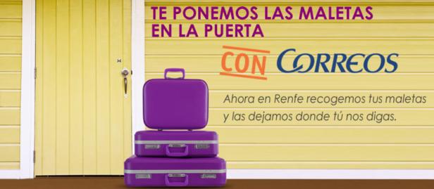 Renfe y Correos nuevo servicio de equipaje puerta puerta