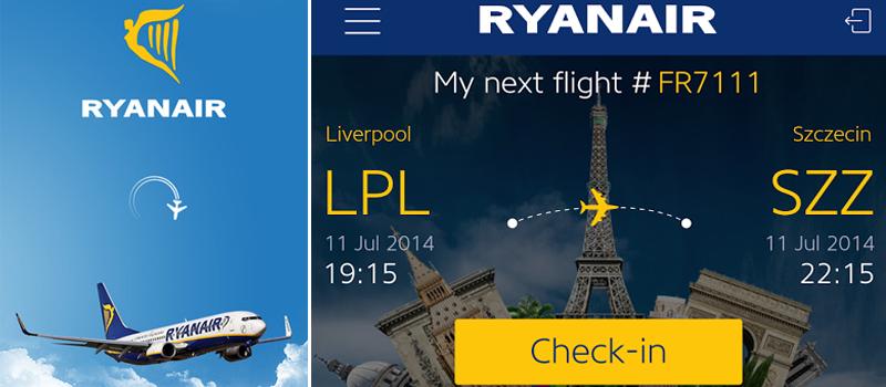 Ryanair App tarjeta de embarque moviles