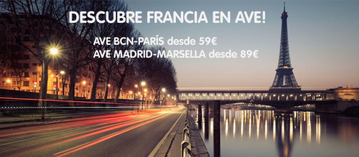 AVE Barcelona Paris y Madrid Marsella