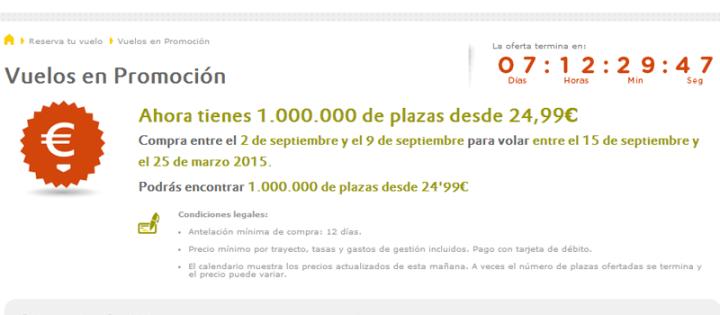 ofertas vuelos vueling septiembre 2014