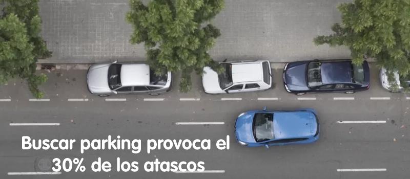 buscar aparcamiento provoca el 30 por ciento de los atascos