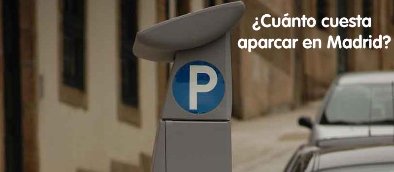 Precios y tarifas parking Madrid zona azul y verde
