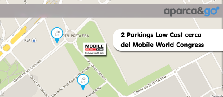 2 parkings baratos cerca del mobile world congress