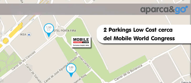 2 parkings baratos cerca del mobile world congress
