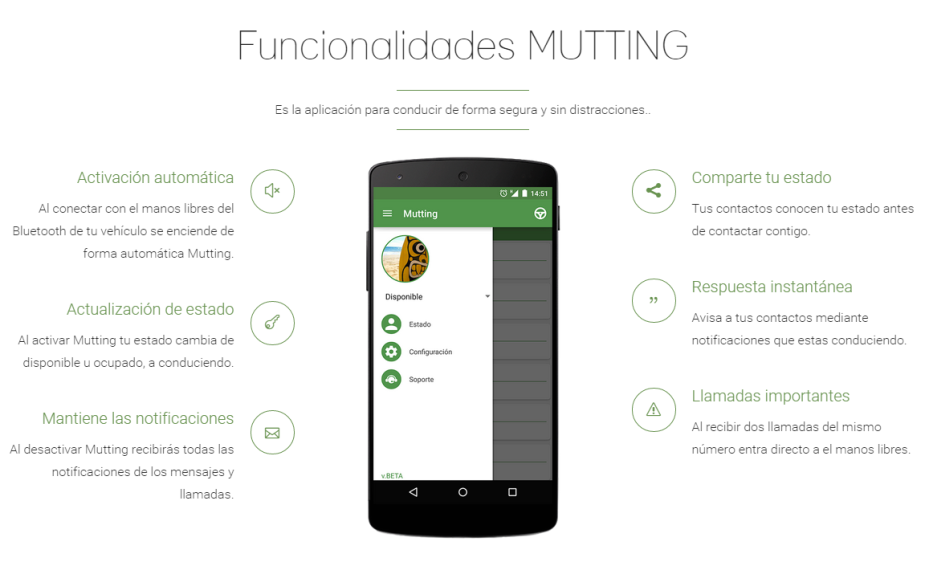 Mutting app para Conductores