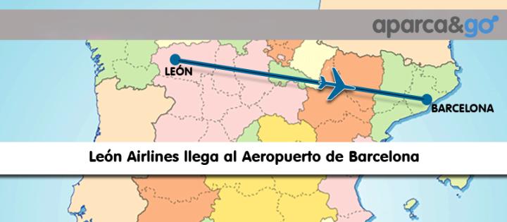 Vuela de Barcelona a Leon con Leon airlines