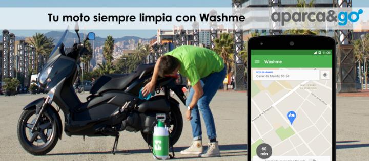 Washme una App para que te laven lamoto