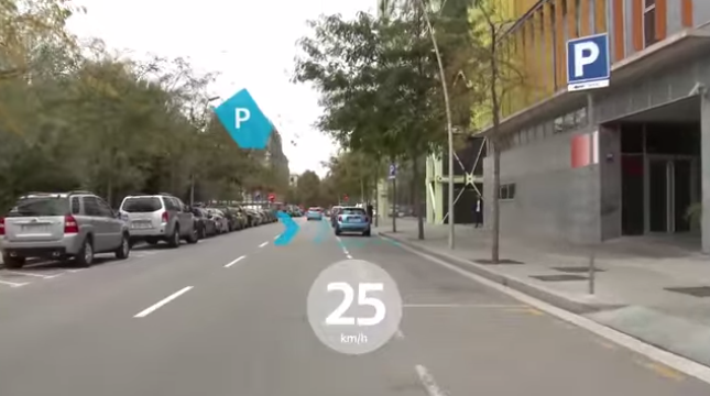 Realidad aumentada info parking