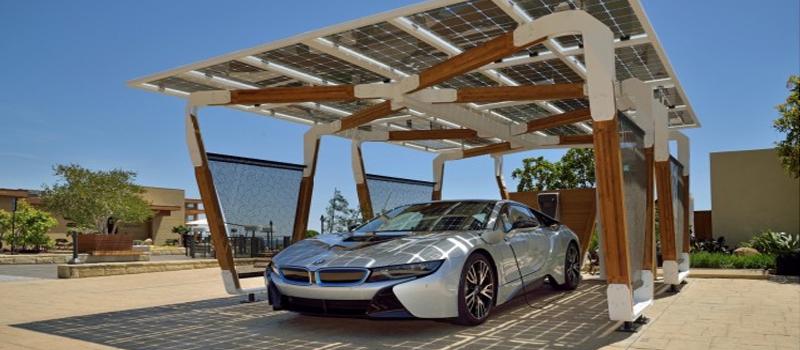 Marquesina solar fotovoltaica parking de bmw