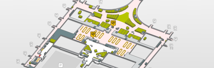 Localizacion oficinas de cambio Terminal 1 planta 1 aeropuerto de barcelona