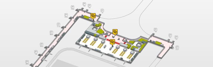 Localizacion oficinas de cambio Terminal 1 planta 3 aeropuerto de barcelona