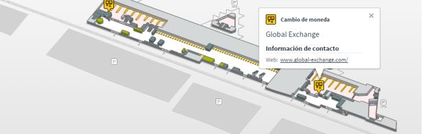 Localizacion oficinas de cambio Terminal 2 A planta 0 aeropuerto de barcelona