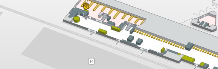 Localizacion oficinas de cambio Terminal 2 B planta 0 aeropuerto de barcelona